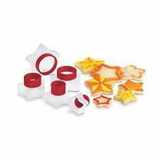 Cuisipro Snap Fit Cookie Cutters 5 Shapes Set nest Baking - STARS