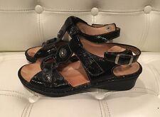 Finn Comfort Adana US 6.5 M/UK4 $275 Black Patent EUC