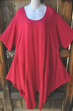 "ART TO WEAR 777 PLUS LAGENLOOK TUNIC IN HOT PINK BY MISSION CANYON,OS+, 60""B!"