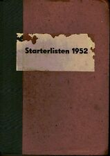 Rennbahn Dresden Pferderennen 1952 komplett 19 Starterlisten gebunden + 2 Traber