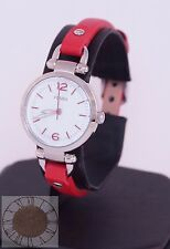 Women's Fossil Watch, Georgia Mini Three-Hand Red Leather Watch ES4119, New