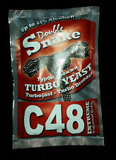 Double Snake C 48 Turbo Yeast, alcohol, spirit, wine, 21% FREE FAST DELIVERY