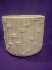"Bamboo planter ready to paint 7"" ceramic bisque glazed inside"