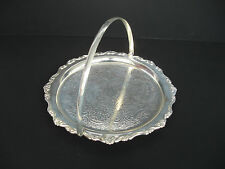 1970s Silver Plated Round Platter Vintage Cake Stand  Cake Plate