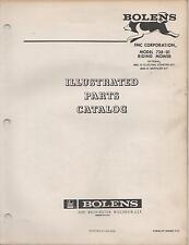 1972 BOLEN RIDING MOWER MODEL 728-01 PARTS MANUAL (105)