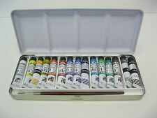 FERRARIO WATER COLOR PAINT SET TINTORETTO 15 TUBES 7.5 ML + 1 BRUSH  NICE GIFT !