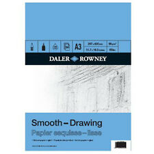 A3 DALER ROWNEY DRAWING SKETCH PAD 96gsm ARTIST SMOOTH PAPER 50 SHEETS blue