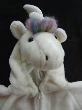 Plush White Unicorn Horse w Metallic Wings Halloween Costume Dress Up Size 2 - 3