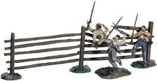 W Britain Toy Soldiers 31223 A Grim Harvest Three Confederate Infantry And Fence