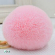 2 x Rabbit Fur Large Pom Pom Shoes Boots Hat Clip Fluffy Ball Heels Charm Decor