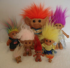 "Lot Of 8 Vintage To Now Troll Dolls Russ Uneeda 8""-1"""