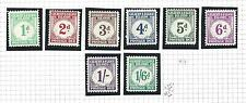 1940 GILBERT AND ELLICE ISLANDS - SG D1/D8  set of 8  MNH/**