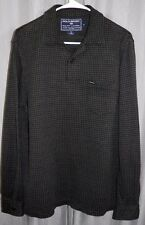 Vintage Polo Sport Ralph Lauren Houndstooth Flannel Patch Spell Out Rugby Shirt