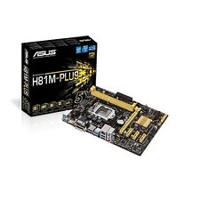 ASUS H81M-Plus Intel LGA1150 mATX Motherboard USB 3.0, SATA 3, HDMI, DVI and VGA