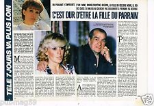 Coupure de presse Clipping 1985 (3 pages) Marie Christine Guérini Le parrain