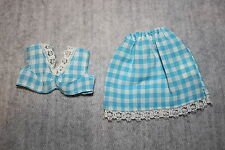 Sindy Pedigree Vintage Doll 1970's Rare Fashion Outfit Gingham Gear