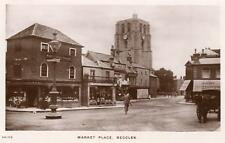 Market Place Beccles RP old pc used  1918 WHS Kingsway