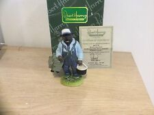 Robert Harrop DP197B STAFFORDSHIRE BULL TERRIER BLACK BRIDLE FISHING LTD ED 100