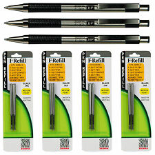 Zebra F-301 Pens With Refills, Black Ink, 1.0 mm Medium Point, 7 Piece Set