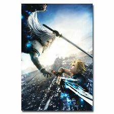 Final Fantasy FF VII Cloud vs Sephiroth Art Silk Poster Wall 24x36inch