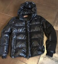 Prada Black Slick Down Insulated Jacket Size 52 Thumb Holes Removable Hood M