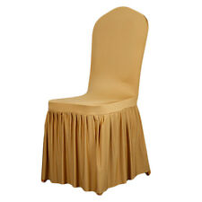 Chair Covers Pleated Strech Spandex For Banquet Wedding Reception Party Decor
