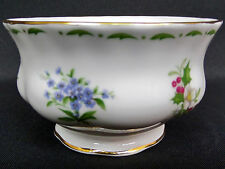 FLOWER OF THE MONTH SUGAR BOWL, VARIOUS FLOWERS, GOOD CONDITION, ROYAL ALBERT