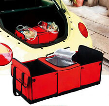 Car AUTO Trunk Cargo Organizer Collapsible Bag Storage Blue Red Folding Case New