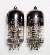 RAREST TESTED PAIR 6S3P GOLD GRID ~ EC86 PC86 WE417A TRIODE TUBES date 1960