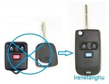 NEW 3 BUTTON FLIP KEY FOB CASE UPGRADE FOR FORD TRANSIT CONNECT REMOTE KEY