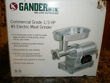 Gander Mountain #5 Stainless Steel Electric Meat Grinder w/ 1/3 HP Motor