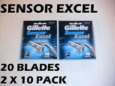 Gillette Sensor Excel - 20 Blades (2 x 10 Pack)