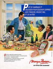 PUBLICITE ADVERTISING 054  1986  MONIQUE RENOU   charcuterie pates saucisson