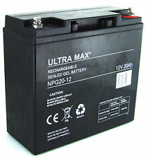 Lawnmower GEL Battery Ultramax 12V 20Ah - (Replaces F19-12B )