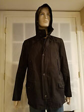 Theory Black Hooded Jacket Size L