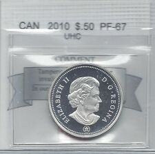 **2010**, Coin Mart Graded Canadian Silver 50 Cent, **PF-67 UHC****