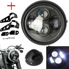 "6.5"" Motorcycle Projector Daymaker Headlight Hi/Lo & Bracket For Harley Choppers"
