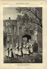 1874 The Blue Girls Of Canterbury Picture G A Store