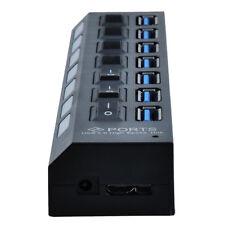 USB 3.0 7 Port Hub High Super Speed For Windows XP/Vista/7/8 MAC USB Device CAD