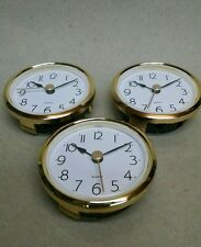 "3-PACK CLOCK FIT UP/INSERT White Dial, arabic, Insert 2 7/16"" dia, NEW, (#262)"