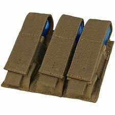 Condor Coyote Brown MA52 MOLLE Triple Pistol 1911 Mag Magazine Holster Pouch