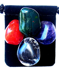 LYMPHOMA Tumbled Crystal Healing Set = 4 Stones + Pouch + Card