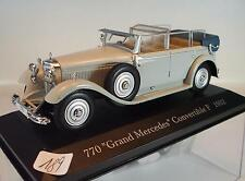 Ixo Altaya 1/43 Mercedes Benz 770 Grand Covertible (1932) in Plexi-Box #189