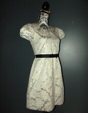 GEORGE ROBE DRESS  SOIREE ANA BROCHEE  FIFTIES MANCHES BALLOON  NOEUD 36/38