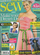 SEW MAGAZINE - GLAMOUR TO GO! OCTOBER 2011 ISSUE 28 - NO FREE PATTERN