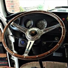 "Wolfsburg Steering Wheel T2 Wood Rim Bay Window VW Late Bus Camper 17"" AAC185"