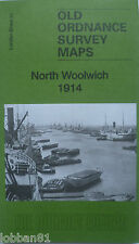 OLD ORDNANCE SURVEY MAP NORTH WOOLWICH LONDON 1914 SHEET 81
