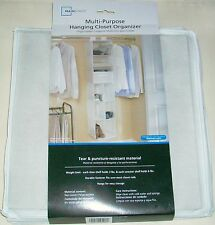 MAINSTAYS 9 COMPARTMENT HANGING TEAR RESISTANT FABRIC CLOSET ORGANIZER WHITE NEW