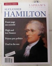 ALEXANDER HAMILTON Lapham's Quarterly SPECIAL ISSUE Front Page SEX SCANDAL 2016