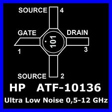 X-CERAMICFET  (50 x) RF Transistor ATF-10136 ULTRA LOW NOISE NF 0,4dB 0,5-12GHz